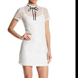 ONTWELFTH  White Lace Dress. Sz Med